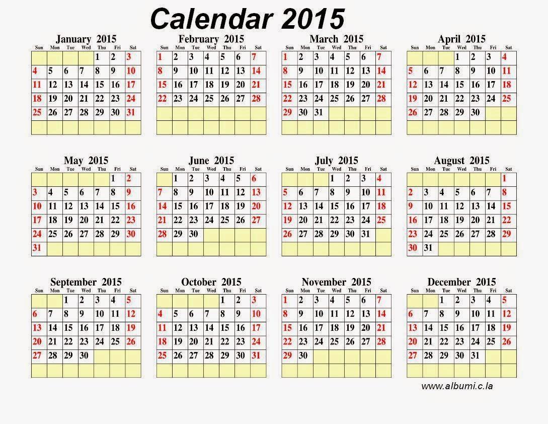صور التقويم الميلادي 2015 بجودة عالية , صور التقويم الميلادي لعام 2015 جاهز للطباعة