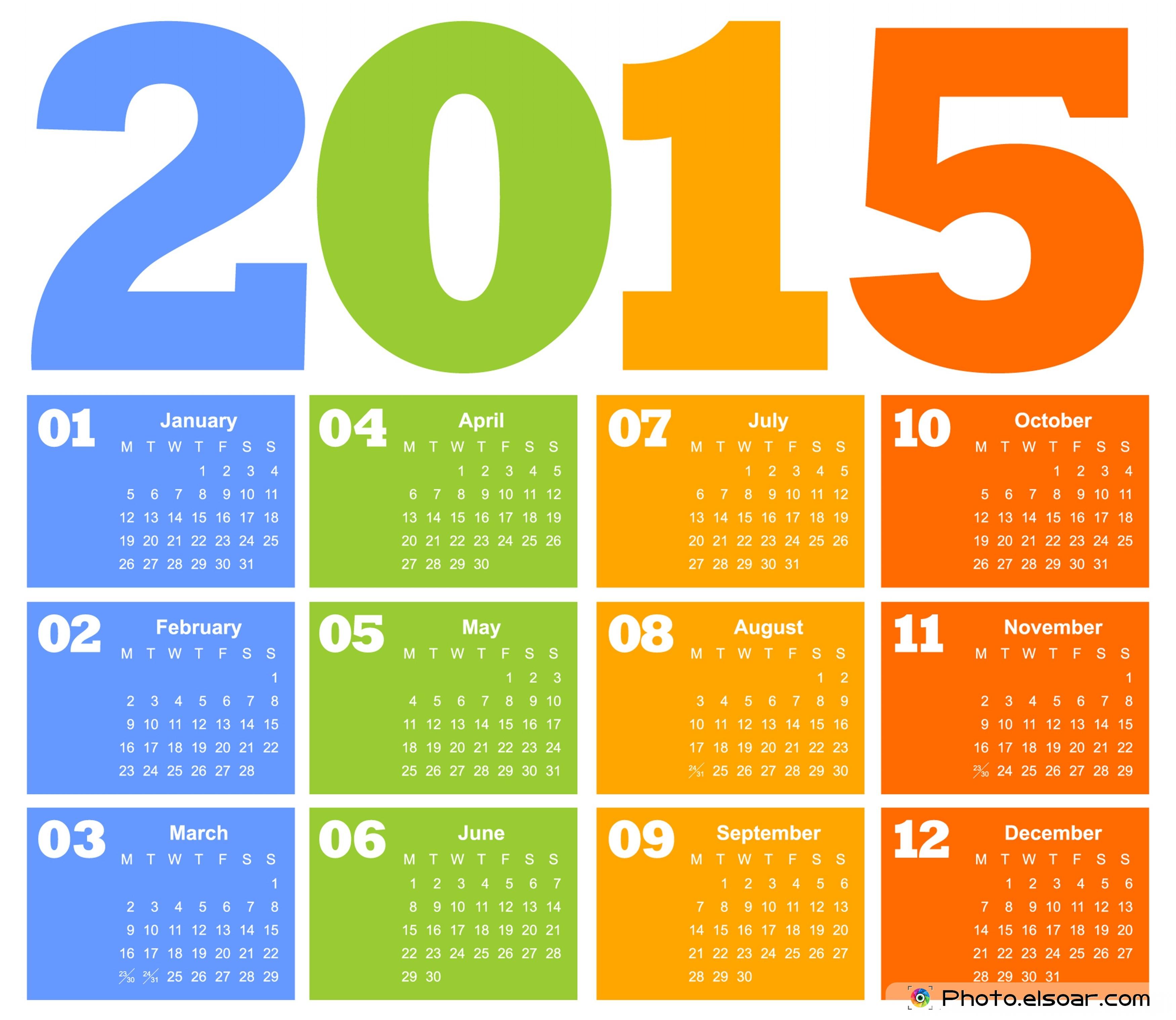 صور تقويم سنة 2015 , Calendar