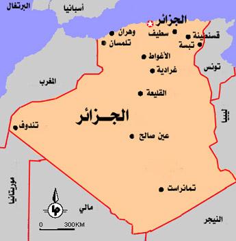 صور خريطة دولة الجزائر , معلومات عن تاريخ الجزائر