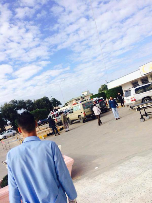 وصول عدد من الجرحي من قوات فج ليبيا الي مستشفي بن سيناء في سرت