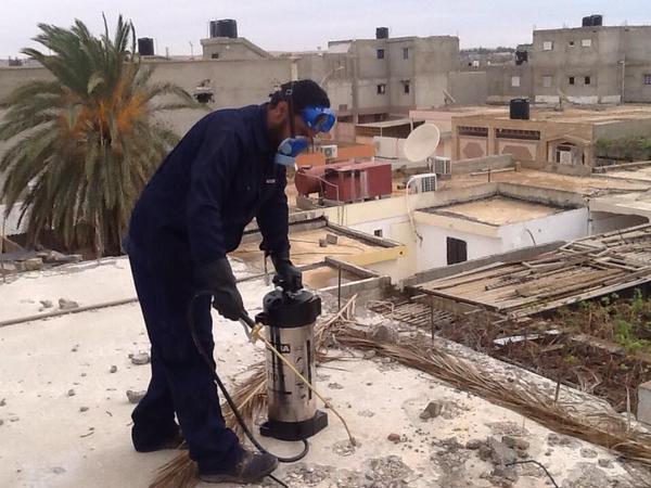 تعقيم وتطهير منطقة بنينا من قبل ادارة الوقاية الصحية