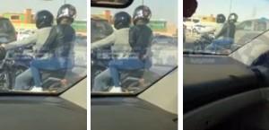 فيديو وصور وتفاصيل فتاة تركب دراجة نارية خلف شاب في الرياض 1436