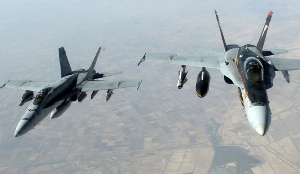 التحالف ينفذ 61 غارة في يوم واحد ضد مواقع داعش في العراق