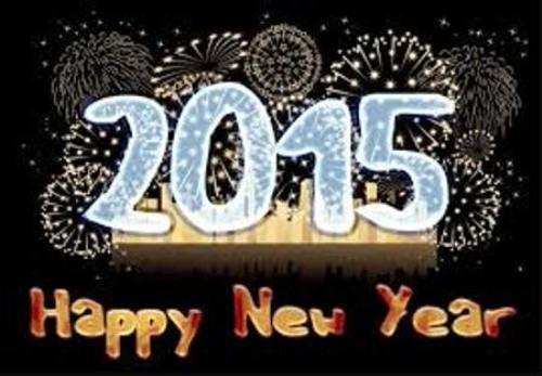 صور مكتوب عليها عبارات عن رأس السنة الميلادية 2015
