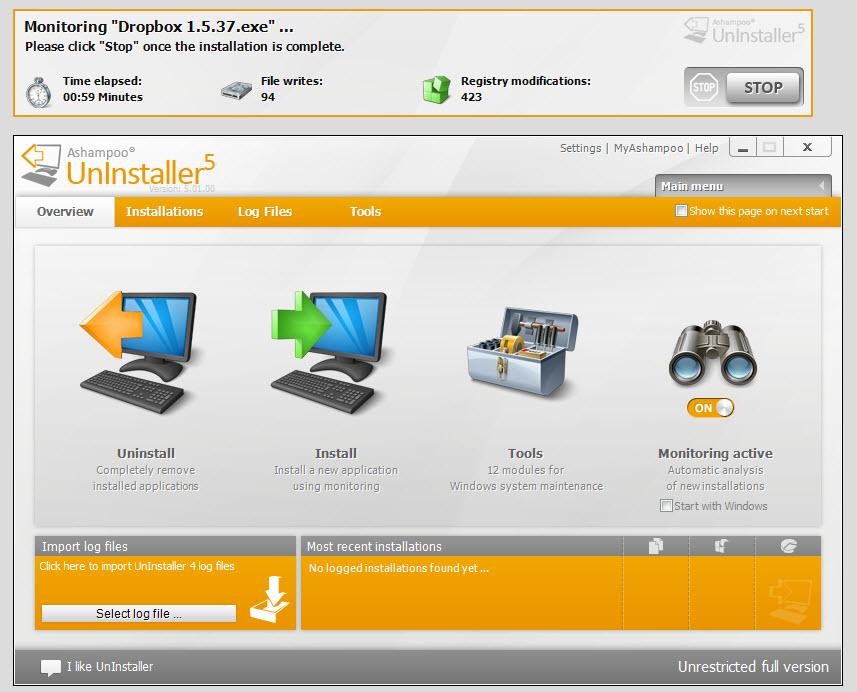 تحميل برنامج إزالة البرامج من جذورها Ashampoo UnInstaller 5.04