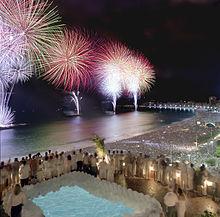 عروض من شاطئ كوباكابانا والذي بتابعه أكثر من مليون شخص