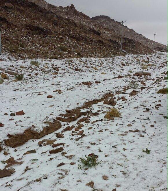 صور ثلوج تبوك 1436 , صور الثلوج في مرتفعات علقان