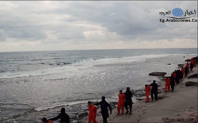 صور اعدام المسيحيين المصريين في ليبيا انتشار , صور اعدام الاقباط المصريين في طرابلس