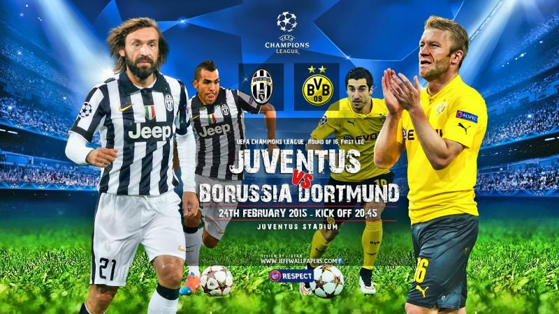 أهداف مباراة بوروسيا دورتموند و يوفنتوس في دوري ابطال اليوم الاربعاء 18-3-2015