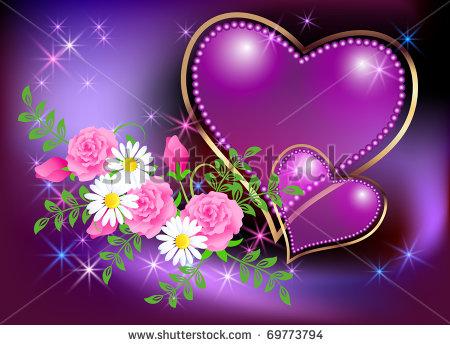 صور براويز جميلة على شكل قلوب ودوائر