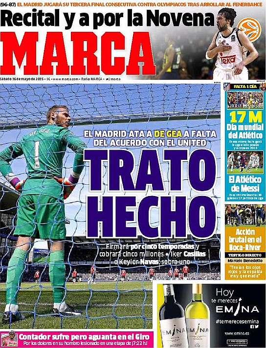 دي خيا الى ريال مدريد براتب 5 ملايين لمدة خمس سنوات