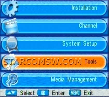 تحويل menu الى 3 اشكال عن طريق usb ستاركوم 8100+8300