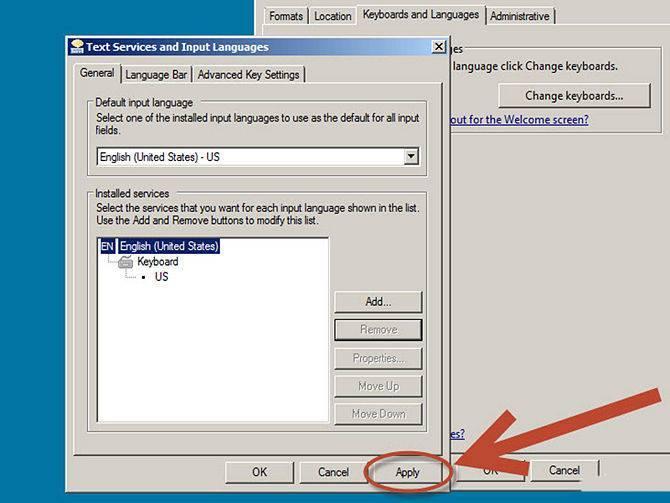 كيفية تغيير اللغة في الكمبيوتر بالصور إضافة أو حذف لغة من لوحة المفاتيح