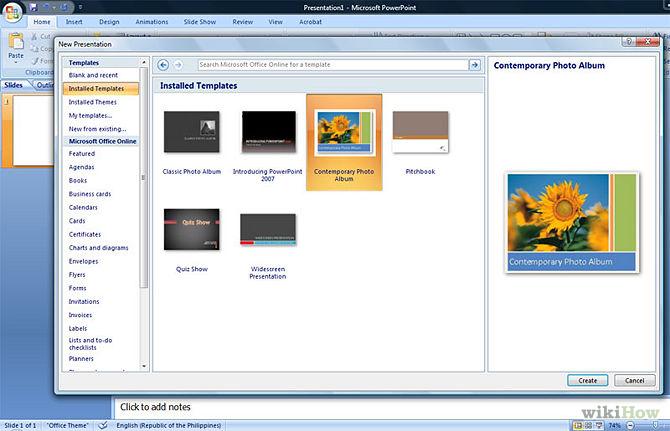بالصور طريقة انشاء عرض تقديمي بوربوينت فى الويندوز والماك أوفيس 2010