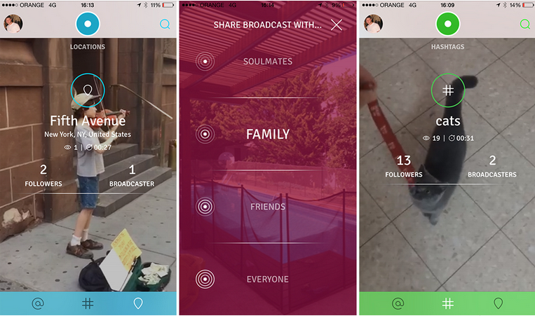 تطبيق TVibes شبكة إجتماعية سحابية لمقاطع الفيديو على iOS