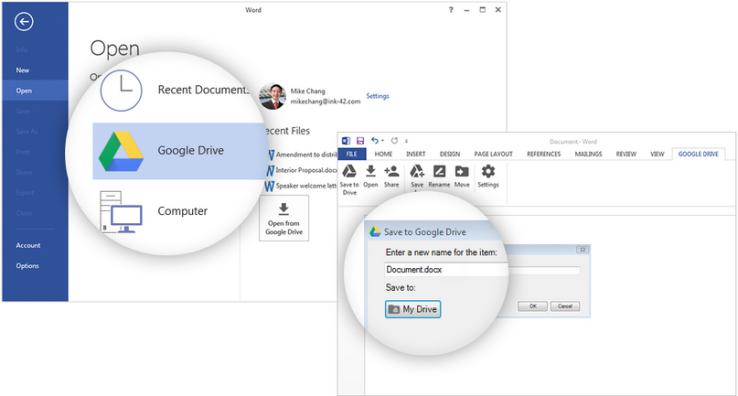 قوقل تتيح مزامنة ملفات الأوفيس مباشرة مع Google Drive