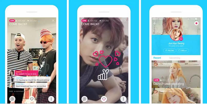 لاين تطلق تطبيق بث فيديو مباشر للمشاهير