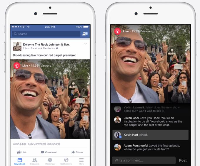 فيسبوك تطلق خدمة بث الفيديو المباشرة Live فقط للمشاهير