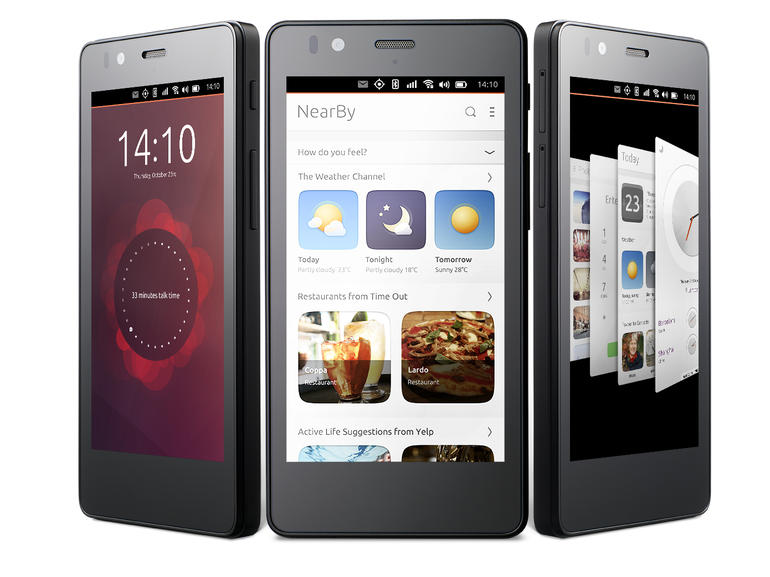 هاتف اوبنتو Aquarius E5 متاح للبيع حول العالم
