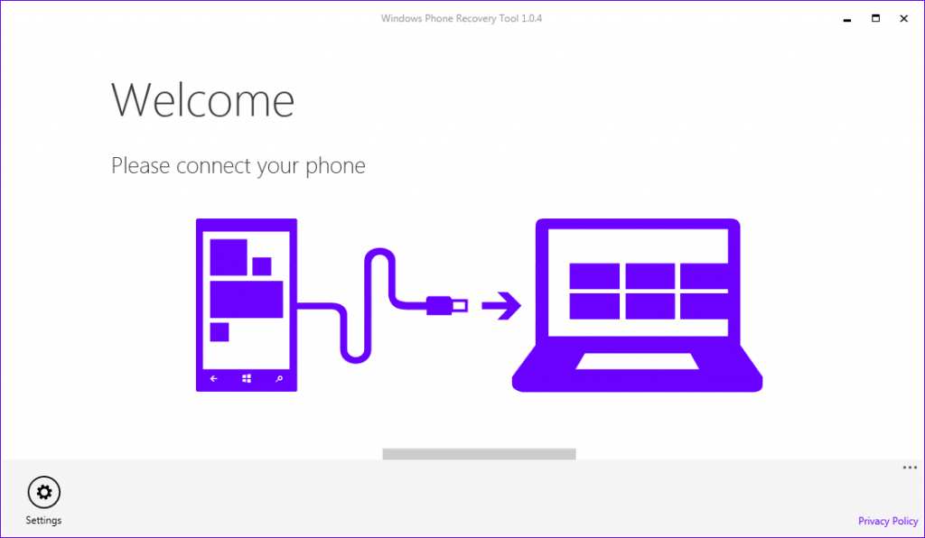 ���� Windows Phone Recovery Tool ������ ��� ������ ��� 8.1