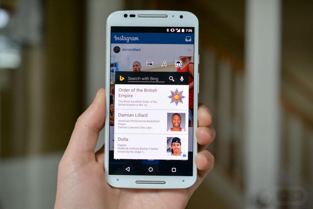 محرك البحث Bing يجلب ميزة Snapshots on Tap