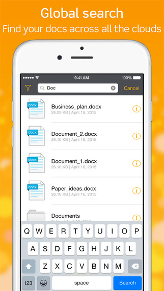 تطبيق TOP File مدير الملفات على iOS