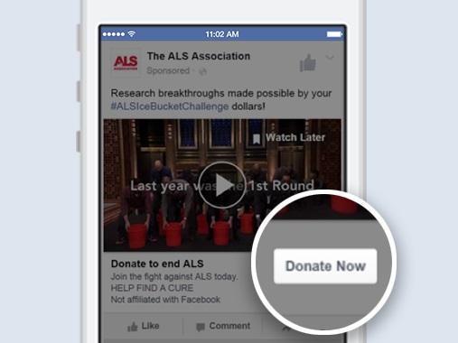 فيس بوك تسهل للجهات الخيرية تلقي التبرعات