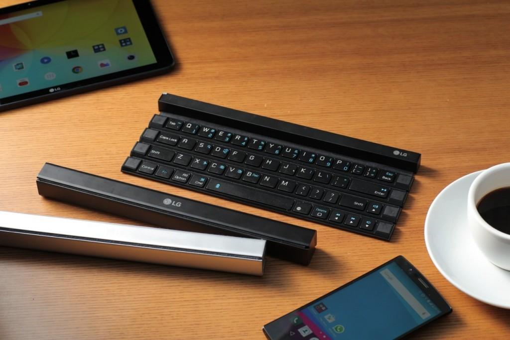 إل جي رولي لوحة مفاتيح محمولة قابلة للطيّ للأجهزة اللوحية