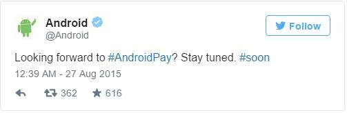 جوجل خدمة أندرويد باي قادمة قريبا
