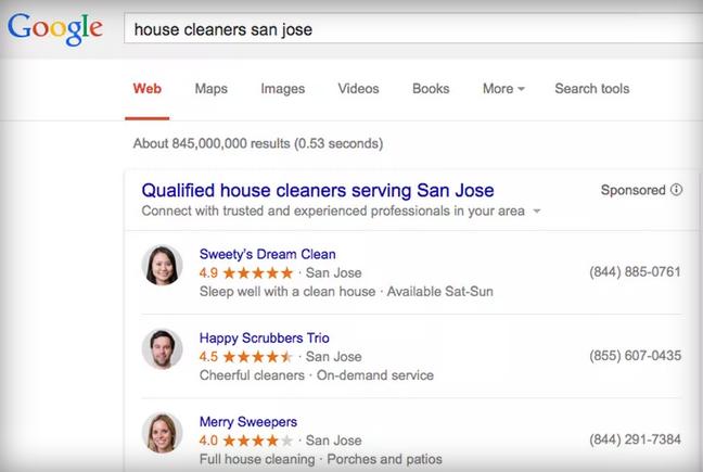 قوقل تتيح إعلانات الخدمات المنزلية في صفحة نتائج البحث