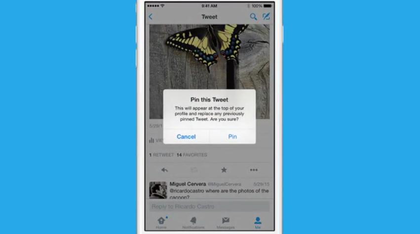 تويتر يتيح تثبيت التغريدات أعلى الصفحة الشخصية على أندرويد و iOS