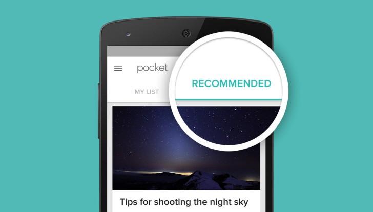 تحديث تطبيق القراءة الشهير Pocket على أندرويد يجلب التوصيات في كل علامة تبويب جديدة
