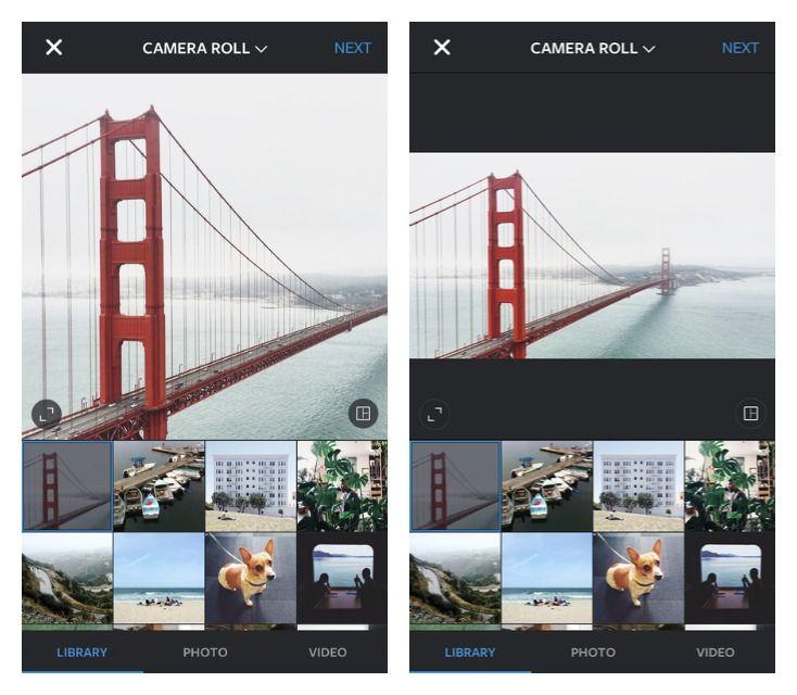 انستغرام يدعم الصور الأفقية والعمودية بقياسها الكامل