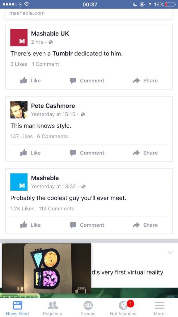 إضافة التحسينات على طريقة عرض ومشاهدة مقاطع الفيديو على موقع الفيس بوك