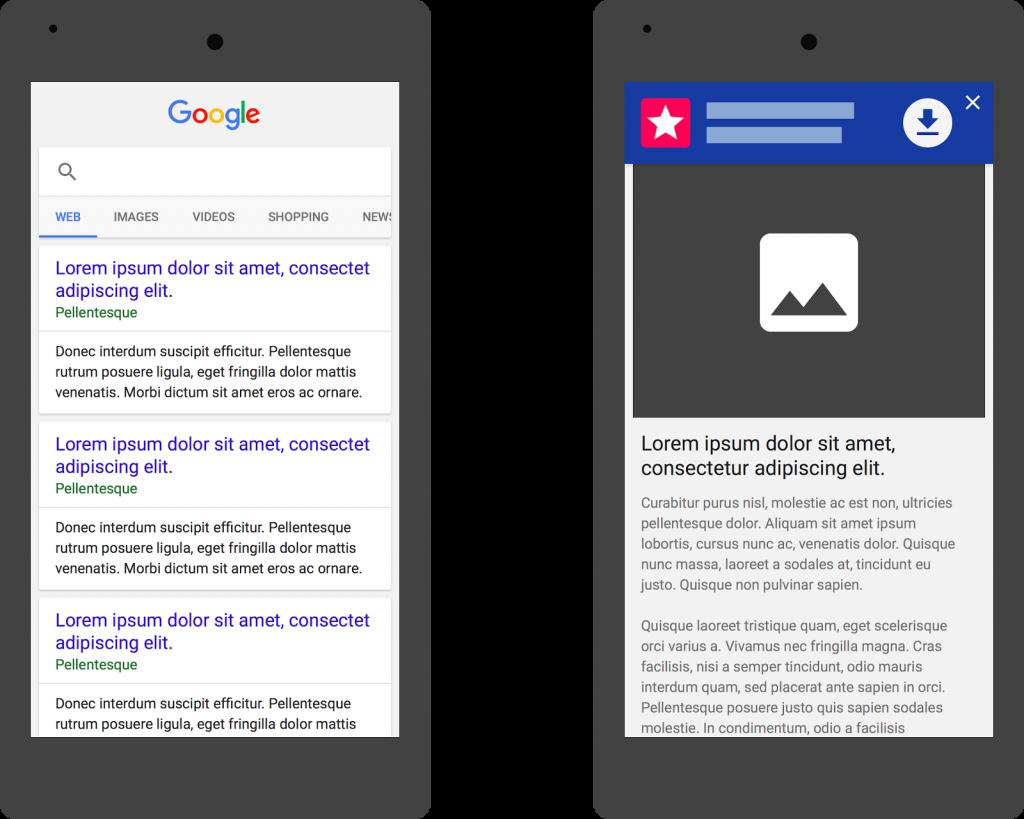 شركة قوقل تقنن إعلانات التطبيقات على صفحات الويب عبر الجوال
