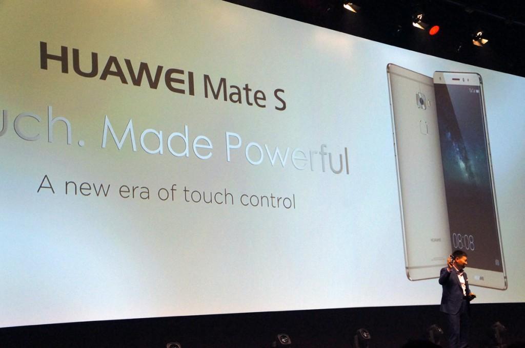 شركة هواوي تطلق الهاتف Mate S بتقنية Force touch قبل الآيفون IFA 2015