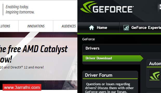 تحديث تعريفات كروت الشاشة AMD و Nvidia علي ويندوز 10