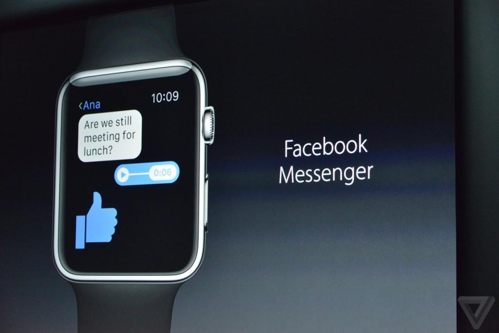 فيسبوك ماسنجر وتطبيقات أخرى قادمة إلى آبل ووتش