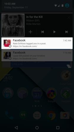 تطبيق كروم على الأندرويد يعرض اشعارات فيس بوك المنبثقة