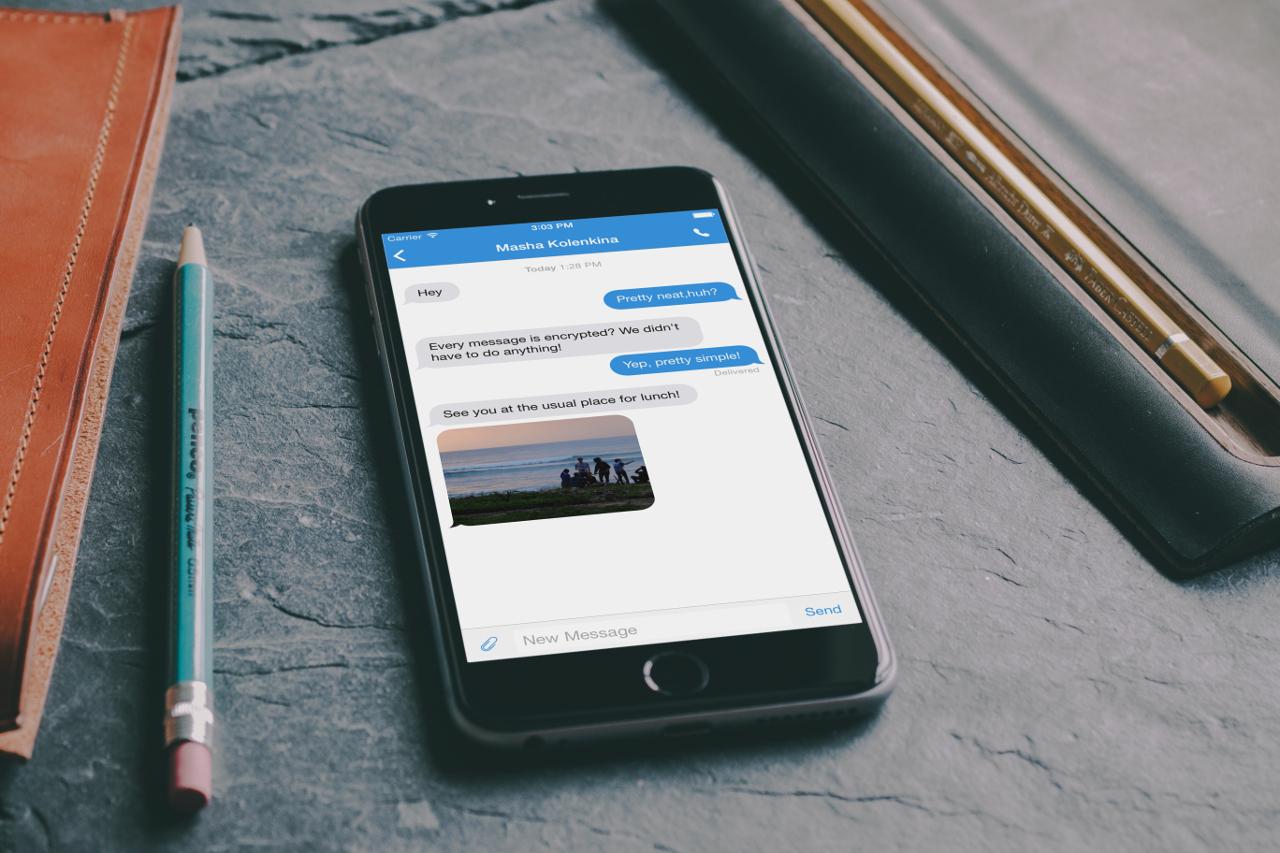 ����� ������� TextSecure ��� ������� � iOS ���� ����� ������� �����
