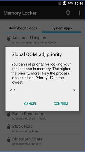 تطبيق Memory Locker لمنع قتل التطبيقات من قبل مدير الرام