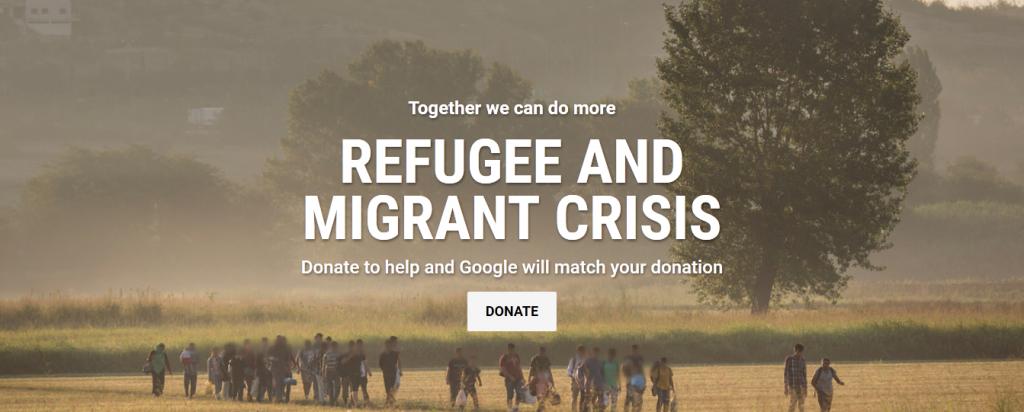قوقل تطلق حملة جمع تبرعات للاجئين والمهاجرين