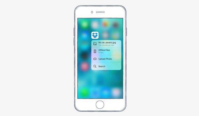 ����� Dropbox ����� ����� iOS 9