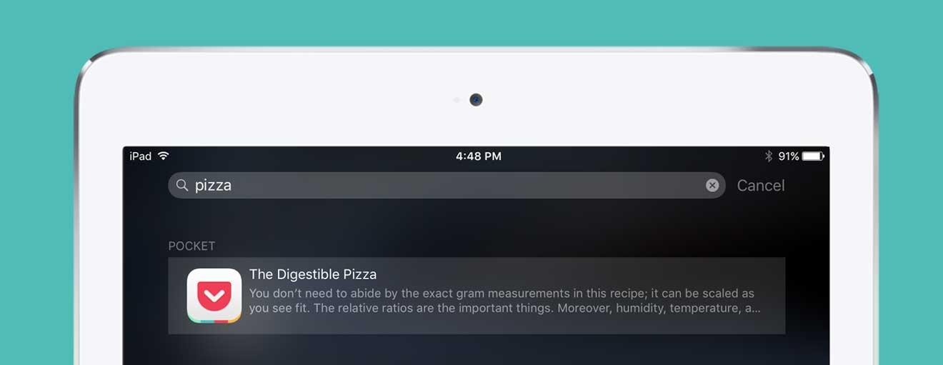 تحديث تطبيق Pocket ليدعم ميزات نظام التشغيل iOS 9