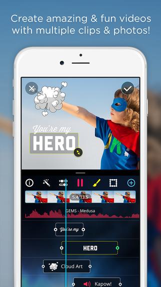 تطبيق VidLab على آيفون منتج إصنع ركب فيلمك الخاص