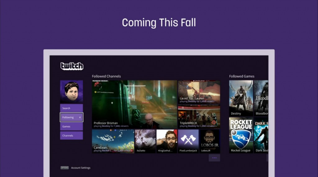 بلاي ستيشن 4 يحصل على تطبيق Twitch للبث المباشر والمزيد