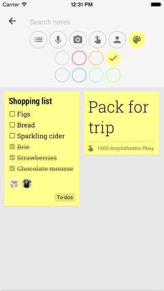 ���� ���� ����� ��������� ������ Google Keep ��� iOS
