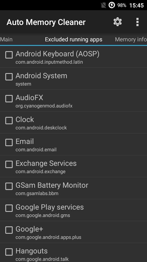 لتظيف ذاكرة الأندرويد Auto Memory Cleaner