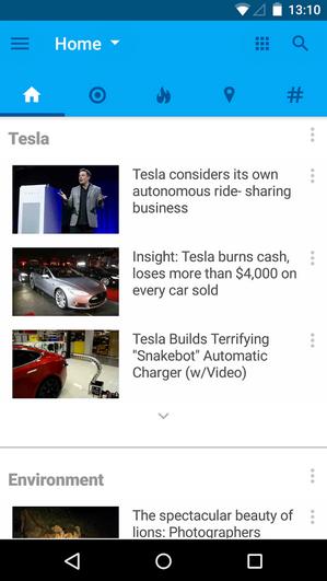 تطبيق Recent News قارئ أخبار جديد