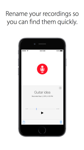 مسجل الصوت Just Press Record التطبيق مثالي جدا لإلتقاط الأصوات على iOS